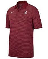 buy online 19f23 79674 Nike Men s Alabama Crimson Tide Stadium Stripe Polo