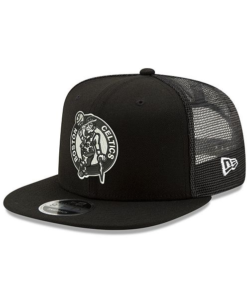 f0781c71076b53 ... New Era Boston Celtics Dub Fresh Trucker 9FIFTY Snapback Cap ...