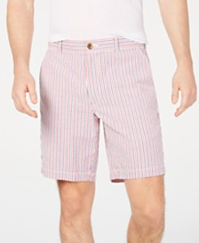"Club Room Men's 9"" Americana Seersucker Stretch Shorts, Created for Macy's"