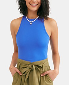 Free People Hayley Cropped Racerback Tank Top