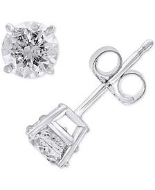 EFFY® Diamond Stud Earrings (1 ct. t.w.) in 14k White Gold