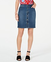 e38aea691c Style & Co Button-Front Denim Skirt, Created for Macy's