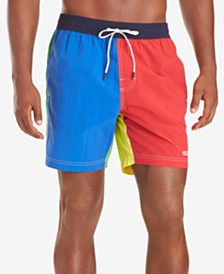 "Tommy Hilfiger Men's Kevin Colorblocked 6-1/2"" Swim Trunks"
