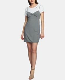 1.STATE Printed Mini Dress