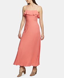 1.STATE Ruffle-Trim Maxi Dress
