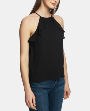 1.state Tops RUFFLE-TRIM HALTER TOP