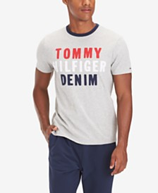 Tommy Hilfiger Denim Men's Edward Logo Graphic T-Shirt