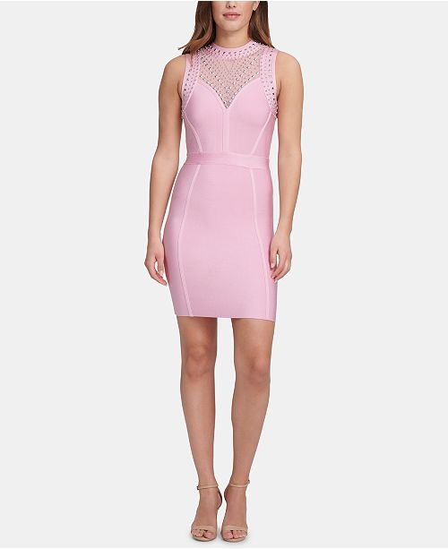 Marciano Studded Open-Back Bodycon Dress, Created for Macy's