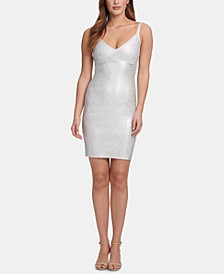 Sleeveless Foiled Bodycon Dress, Created for Macy's