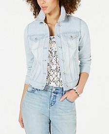 Stripe Denim Jacket, Created for Macy's
