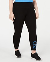 be3087275f Calvin Klein Performance Plus Size Logo High-Rise Leggings