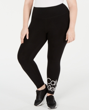 880f434b64 Calvin Klein Performance Plus Size Logo High-Rise Leggings In ...