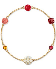 Swarovski Remix Gold-Tone Multicolor Pavé Fireball & Bead Magnetic Bracelet