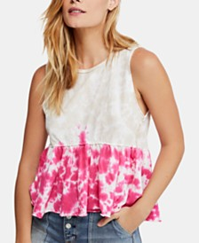 Free People Anytime Tie-Dye Cotton Tank Top