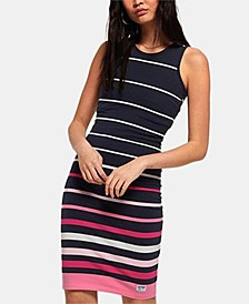 Sports Luxe Striped Bodycon Dress