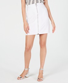 I.N.C. Zip-Front Mini Skirt, Created for Macy's