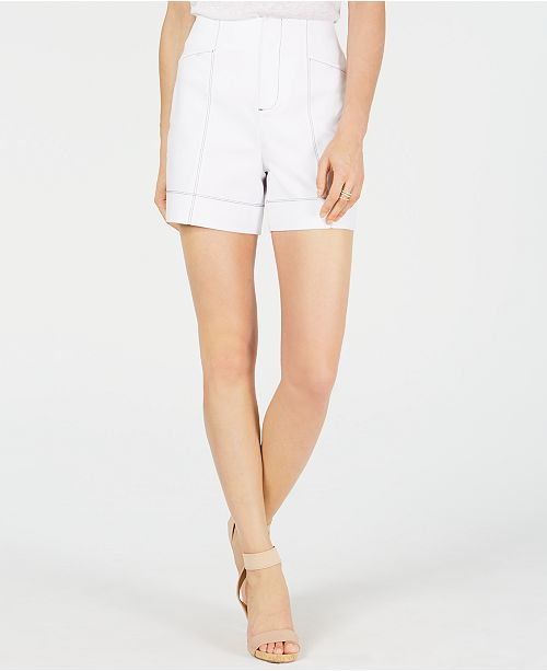 INC International Concepts INC Contrast-Stitch Shorts, Created for Macy's
