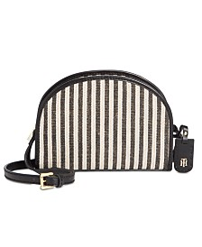 Tommy Hilfiger Julia Straw Lurex Half Moon Crossbody