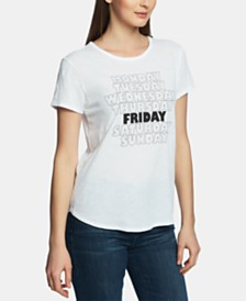 1.STATE Friday-Print T-Shirt