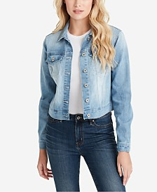 Jessica Simpson Juniors' Peony Classic Denim Jacket