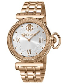 Roberto Cavalli By Franck Muller Women's Swiss Quartz Rose Gold Stainless Steel Bracelet Watch, 38mm