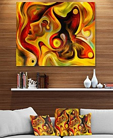 "Designart 'Butterfly S Emotions' Abstract Metal Wall Art - 40"" X 30"""