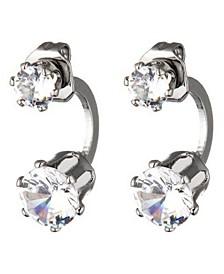 Double Cubic Zirconia Stone Ear Huggie