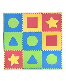 Tadpoles 9 Piece Foam Play Mat Set, First Shapes