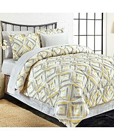 Brown & Grey Porter Yellow 8-Piece Bed-In-Bag, Queen