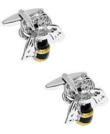 Sutton Silver-Tone Honey Bee Cufflinks