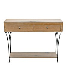 """Alaterre Thetford 40"""" W Weathered Natural Media Console Table with Drawers"""