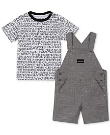 Calvin Klein Baby Boys 2-Pc. T-Shirt & Shortalls Set