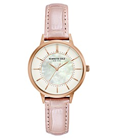 Ladies' Leather Strap with Mother Of Pearl Dial, 32MM