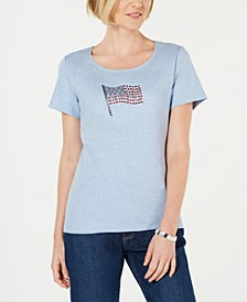 Embellished Flag Cotton T-Shirt, Created for Macy's