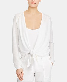 Lauren Ralph Lauren Petite Open Front Sweater, Created for Macy's