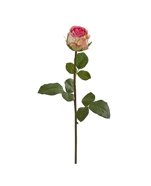 """Nearly Natural 18"""" Rose Spray Artificial Flower (Set of 12)"""
