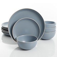 Laurie Gates Rockaway Blue 12-piece Dinnerware Set