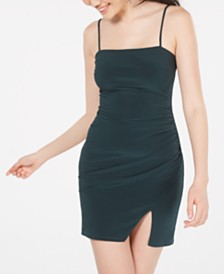 B Darlin Juniors' Ruched-Side Bodycon Dress
