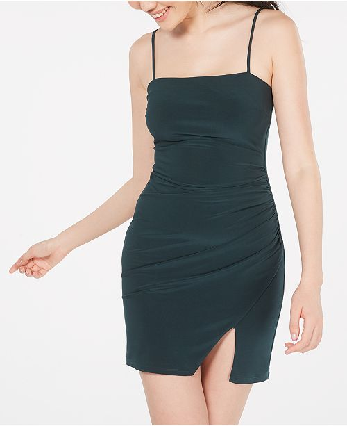 B Darlin Juniors' Ruched-Side Bodycon Dress