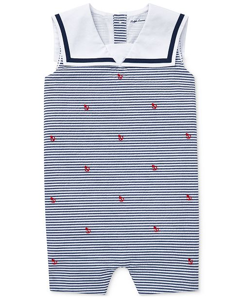 Polo Ralph Lauren Baby Boys Sailor Cotton Shortall