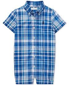 Polo Ralph Lauren Baby Boys Plaid Cotton Poplin Shortall