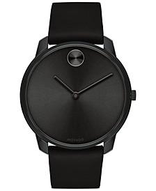 Men's Swiss BOLD Black Leather Strap Watch, 42mm