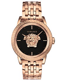 Versace Men's Swiss Palazzo Empire Rose Gold Ion-Plated Bracelet Watch 43mm