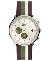 d2a9c9e95f9f LIMITED EDITION Fossil Men s Chronograph Chase Timer Striped Brown Leather  Strap Watch 42mm
