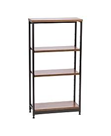 Tall Wood and Metal Shelf