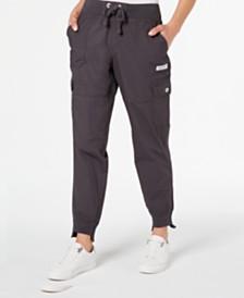 Calvin Klein Performance Tie-Front Step-Hem Cargo Pants