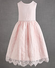 Us Angels Little Girls Satin Lace Dress