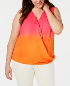 Alfani Plus Size Surplice Top, Created for Macy's