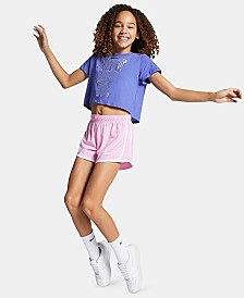 Nike Big Girls Sportswear Cotton Shorts