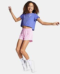 12a2c3a59ad9f Nike Big Girls Sportswear Cotton Shorts